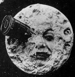 viaggio sulla luna molies luna con cannocchiale